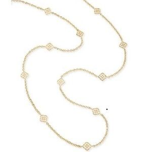Kendra Scott Long Devalyn Necklace in Gold